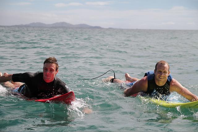 Surfers in Fiji